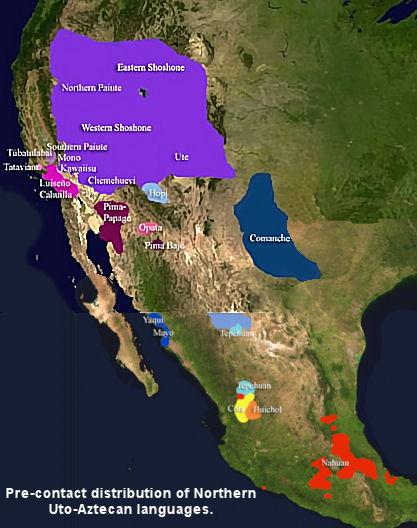 Uto-aztecan-language-map
