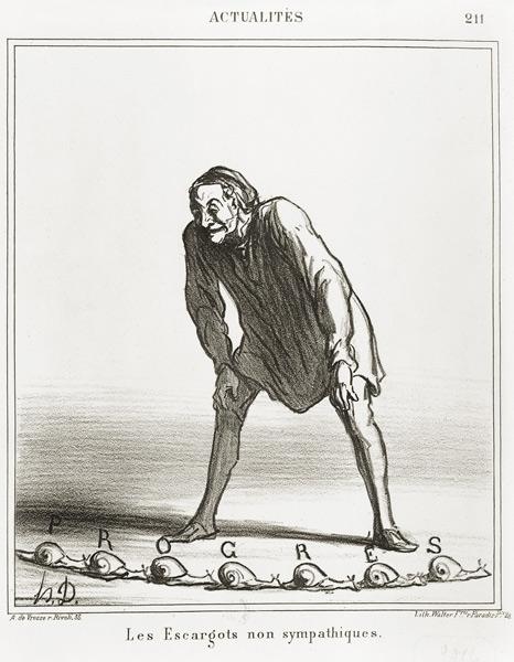 DAUMIER-Les-Escargot-Telegraph